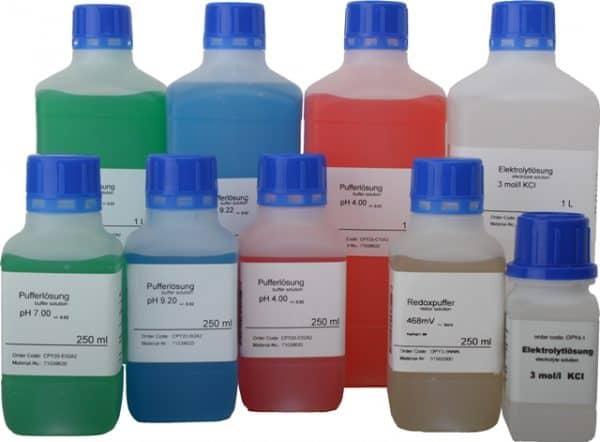 pH en redox buffer vloeistoffen